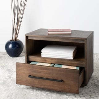 Safavieh Couture Mallory 1 Drawer Nightstand - Dark Chocolate