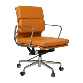 Executive Lark Office Chair in White/Tan/Black (As Is Item)