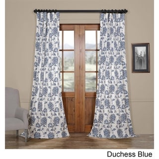 Exclusive Fabrics Duchess Printed Cotton Twill Curtain 50 x 96 (As Is Item)