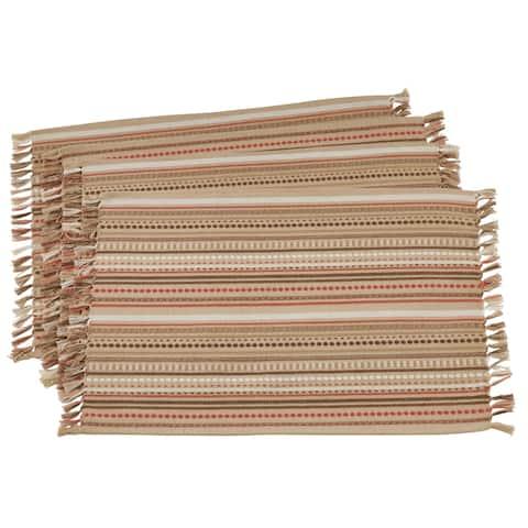 Saro Lifestyle Cotton Table Mats (Set of 4)