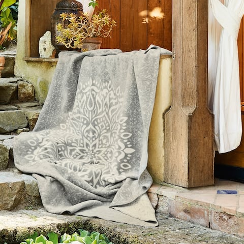 IBENA Reversible Mandala Throw Blanket Denpasar