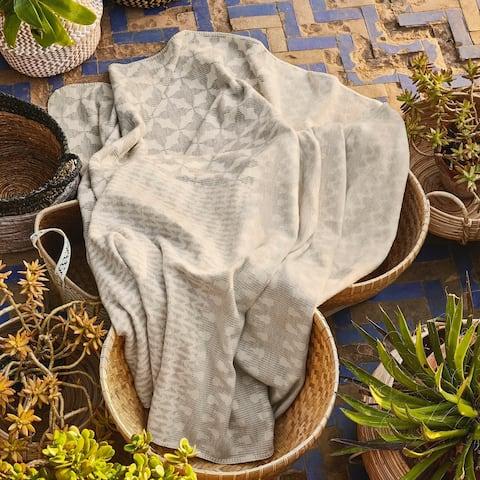 IBENA Pure Cotton Serenity Throw Blanket Manada