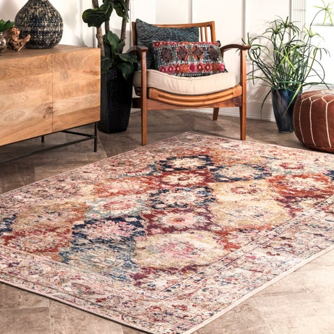 Copper Grove Tesanj Vintage Floral Bordered Area Rug