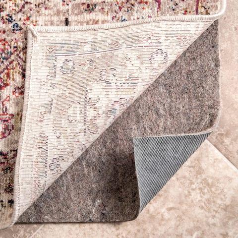 Porch & Den Ramona Grey Eco-friendly Non-slip Felted Reversible Rug Pad