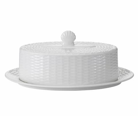 Nantucket Basket Fine Bone China Covered Butter