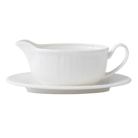Nantucket Basket Fine Bone China Gravy Boat