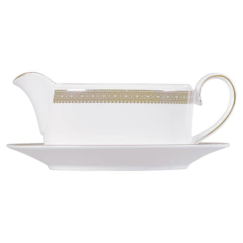 Vera Lace Gold Fine Bone China Imperial Gravy Boat