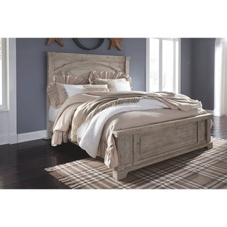 The Gray Barn Launfal Whitewashed Panel Bed