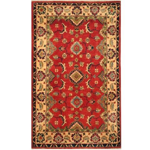 Handmade One-of-a-Kind Kazak Wool Rug (Afghanistan) - 2'7 x 4'3