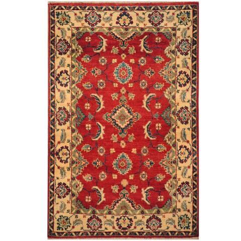 Handmade One-of-a-Kind Kazak Wool Rug (Afghanistan) - 2'7 x 4'2