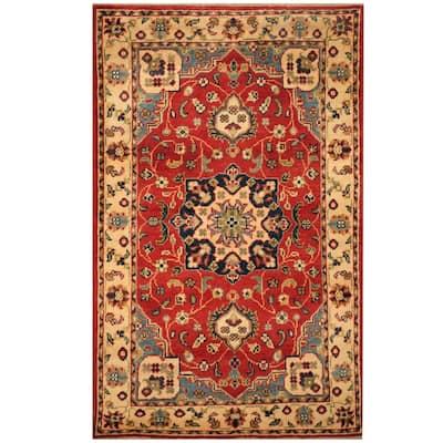 Handmade One-of-a-Kind Kazak Wool Rug (Afghanistan) - 2'7 x 4'1