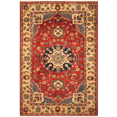 Handmade One-of-a-Kind Kazak Wool Rug (Afghanistan) - 2'9 x 4'