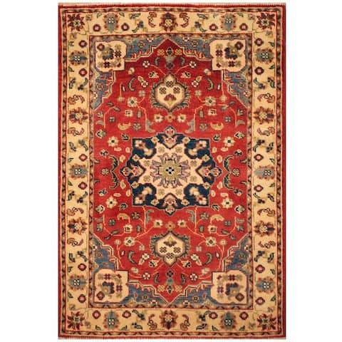 Handmade One-of-a-Kind Kazak Wool Rug (Afghanistan) - 2'9 x 4'