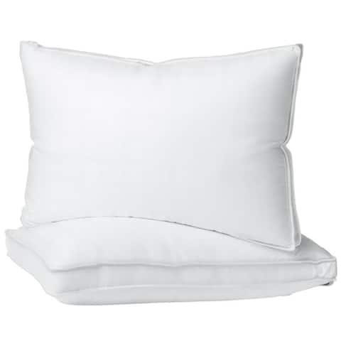 Porch & Den Jenine 300 Thread Count Cotton Hypoallergenic Gusset Bed Pillows