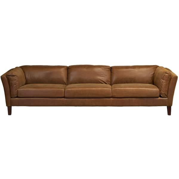 Crusader 4 Seater Brown Sofa - Long