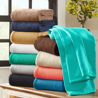 Superior Woven Cotton Textured Throw and Blanket