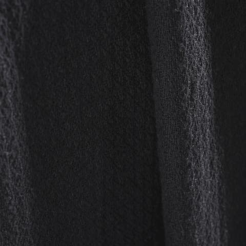 Miranda Haus Hanson Woven Cotton Textured Throw and Blanket