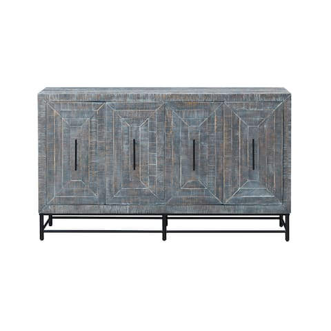 Christopher Knight Home Grey Wood 4-door Distressed Credenza