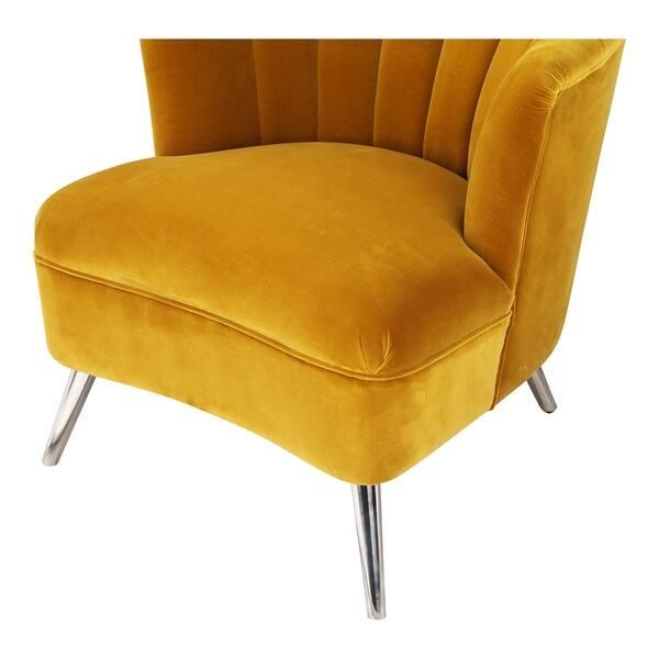 Fantastic Shop Aurelle Home Retro Inspired Yellow Accent Chair Left Evergreenethics Interior Chair Design Evergreenethicsorg