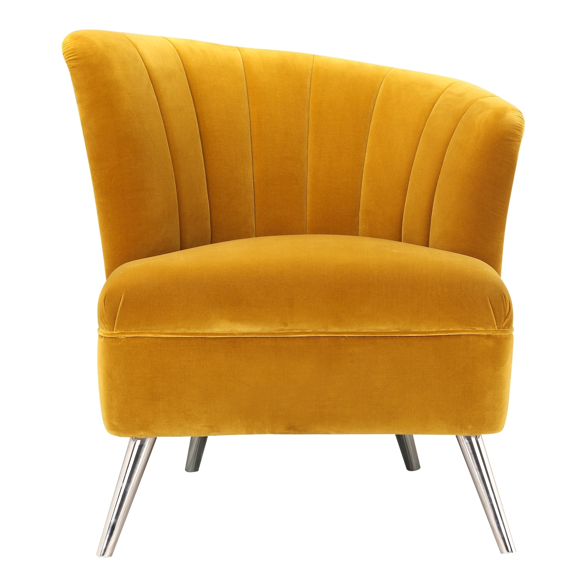 Shop Aurelle Home Retro Inspired Yellow Accent Chair Right On