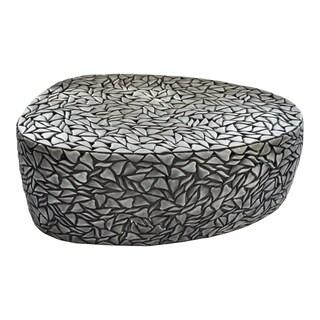 "Aurelle Home Alana Rustic Iron Coffee Table - 16"" x 48"" x 27"""