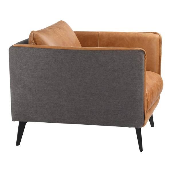 Peachy Shop Aurelle Home Mid Century Modern Cognac Leather Arm Gamerscity Chair Design For Home Gamerscityorg
