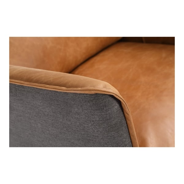 Tremendous Shop Aurelle Home Mid Century Modern Cognac Leather Arm Theyellowbook Wood Chair Design Ideas Theyellowbookinfo
