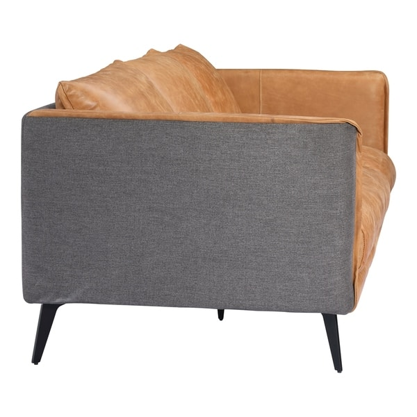 Surprising Shop Aurelle Home Mid Century Modern Cognac Leather Sofa Gamerscity Chair Design For Home Gamerscityorg
