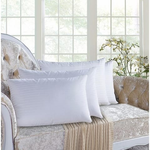 Hypoallergenic Down-Alternative Soft Bed Pillows (4-Pack)