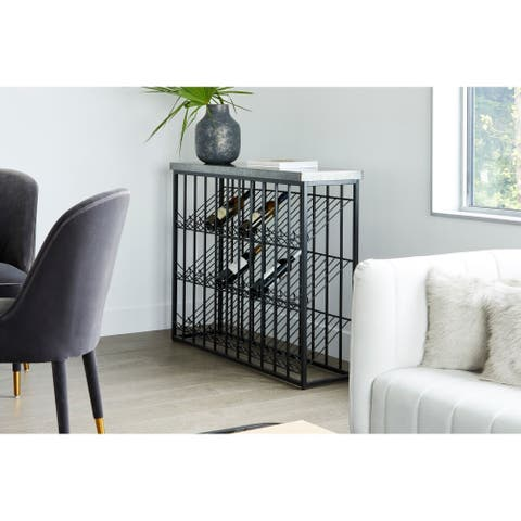 Aurelle Home Contemporary Zinc Top Wine Rack