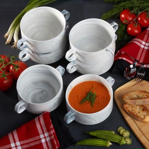 Certified International Marble Soup Crocks, Set of 6