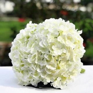 Enova Home Cream Artificial Hydrangea Flower Bouquets Set of 3