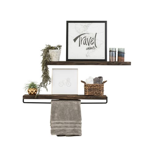 Handmade Del Hutson Designs True Floating Shelf and Towel Rack