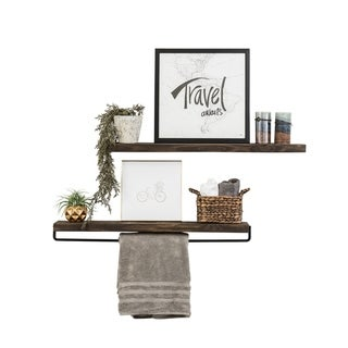 Link to Handmade Del Hutson Designs True Floating Shelf and Towel Rack Similar Items in Bathroom Furniture