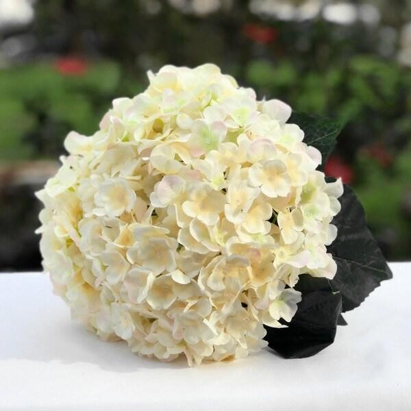 Enova Home Blush Artificial Hydrangea Flower Bouquets Set of 3