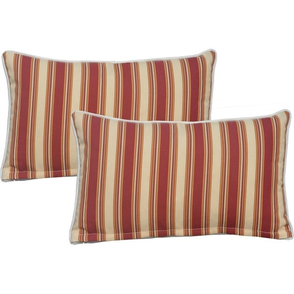 Shop Moda 2 Piece Patio Lumbar Decorative Cushion Throw