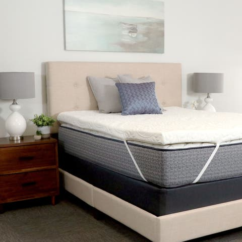 Envoy Sleep 3-inch Copper Latex and Gel Latex Mattress Topper