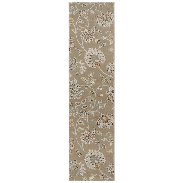 """All-Over Oriental Floral Rug Transitional - 11'9"""" x 9'1"""""""