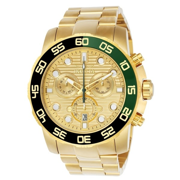 9bfec8564 Shop Invicta Men's Pro Diver 21554 Gold Watch - Free Shipping Today -  Overstock - 27549448