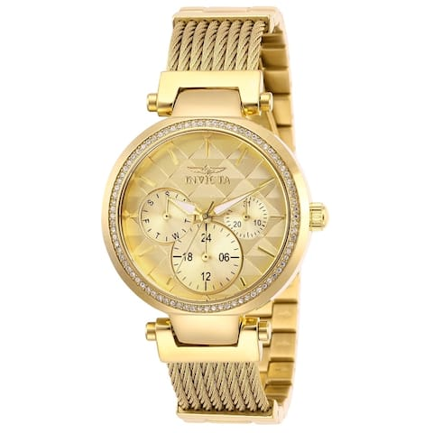 Invicta Women's 28918 'Angel' Gold-Tone Stainless Steel Watch