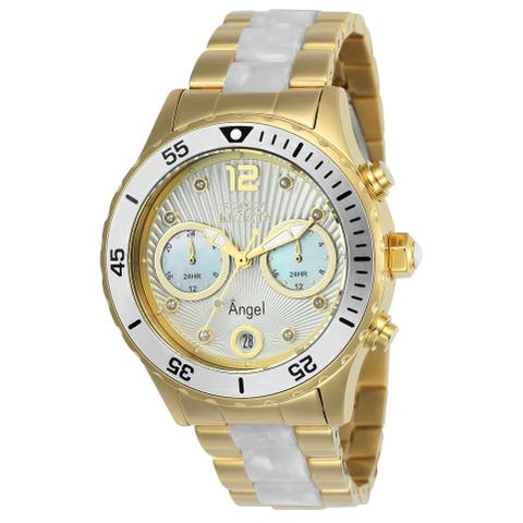 Invicta Women's 24702 'Angel' Gold-Tone and Silver Stainless Steel Watch