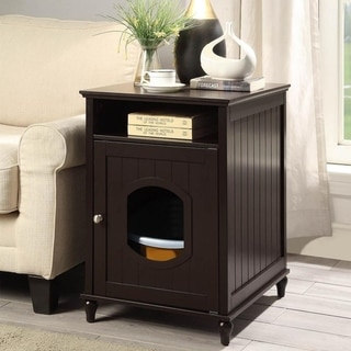 Unipaws Cat Litter Box Enclosure, Litter Loo Cat House End Table