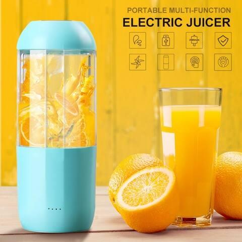 380ML Juicer Portable Multi-Function Electric Juicer Crushed Ice Juice Machine Anti-Vibration Noise Reduction