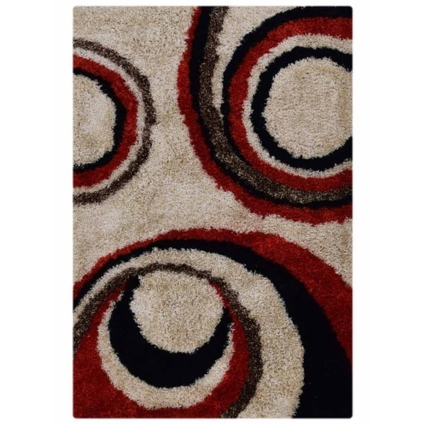 Hand Tufted Polyester Modern Shaggy Shag Graphic Indian Area Rug