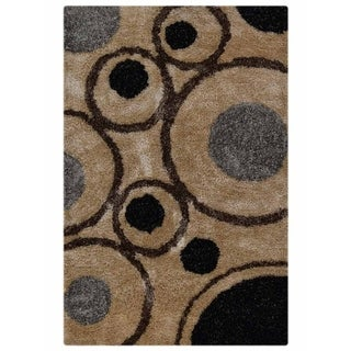 Graphic Shaggy Modern Hand Tufted Polyester Indian Shag Area Rug