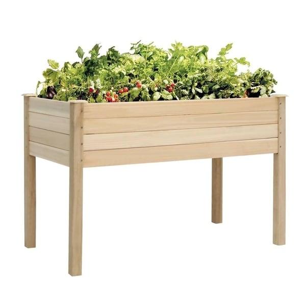 Kinbor Cedar Wood Raised Garden Bed Elevated Planter Kit Grow Vegetables Planter  Box