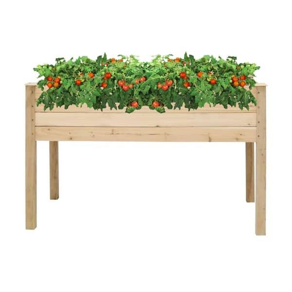 Shop Kinbor Cedar Wood Raised Garden Bed Elevated Planter Kit Grow