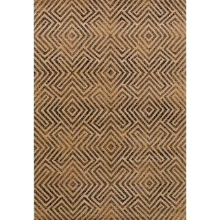 Transitional Geometric Acrylic and Polyester Graphic Belgium Area Rug