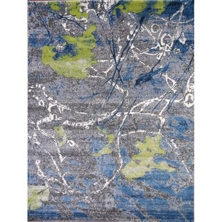 Abstract Distressed Soft Pile Turkish Oriental All-Over Area Rug