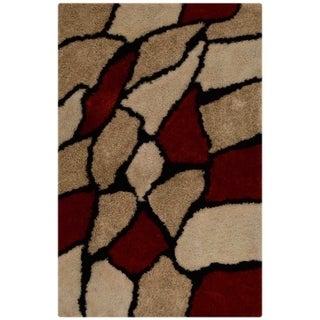 Shaggy Hand Tufted Polyester Shag Modern Animal Indian Area Rug